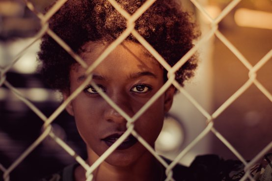 adult-afro-hair-barbed-wire-2407884